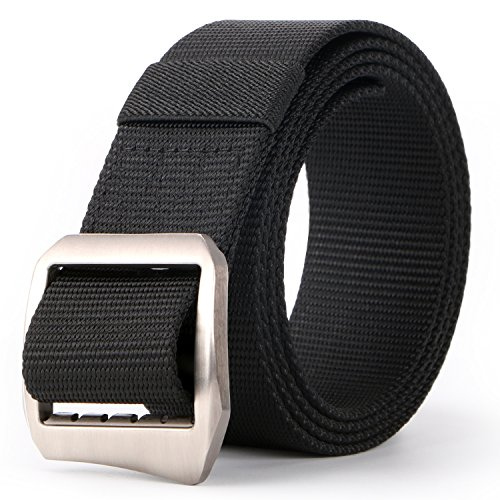 JASGOOD Men's Nylon Military Style Casual Army Outdoor Tactical Webbing Buckle Belt by JASGOOD
