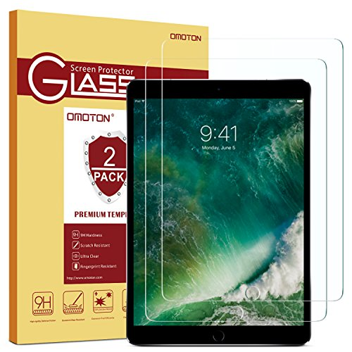 [2 Pack] OMOTON New iPad 9.7 2018 Screen Protector Tempered Glass for the...