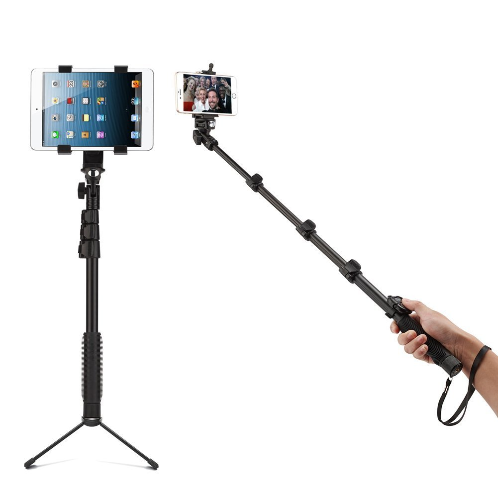 Accmor Bluetooth Extendable Selfie Stick with Tripod Stand for Smartphones, Tablets and Video Cameras