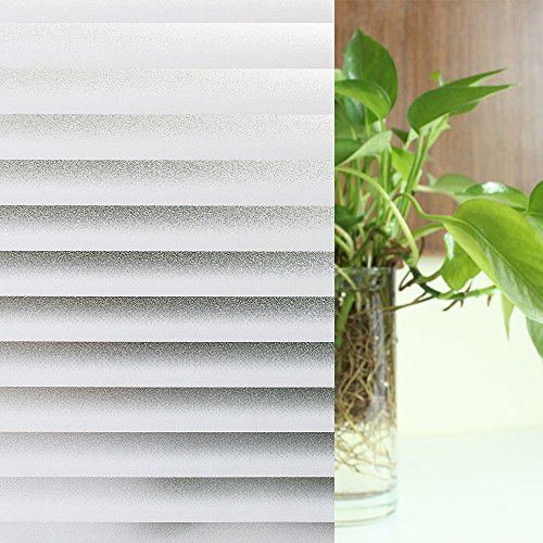 (Privacy Windows Film, non-adhesive static, Frosted Stripe Patterns Glass Film 23.6×78.7 Inches (60CM X 200CM))