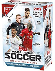 2019 Topps MLS Soccer Unopened Blaster Box of Packs with One GUARANTEED JUMBO RELIC or DUAL RELIC Card Per Box