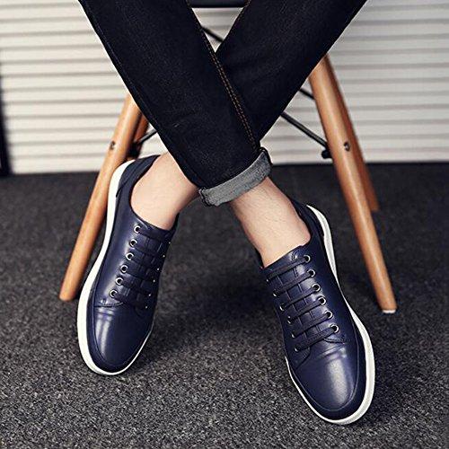 Winter UK7 Non Size Shoes Soft Colors 8 Blue Color Leather Slip Leisure 41 Feifei EU CN42 3 Bottom Men's 5 Shoes qFEpAp