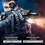 Olight-WARRIOR-X-Torcia-Militare-2000-Lumen-Torca-Tattica-LED-Luminosa-3-Modalit-di-Illuminazione-Cavo-di-Ricarica-Magnetica-MCC-Batteria-18650-3000mAh-Inclusa-Ideale-per-Difesa-e-Militare-ecc