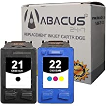Abacus24-7 Remanufactured HP 21 22 Ink Cartridge Replacements for DeskJet 3915 3920 D1520 D1560 D2400 F2210 F335 F380 F4180 OfficeJet 4310 4355 J3640... Black & Color