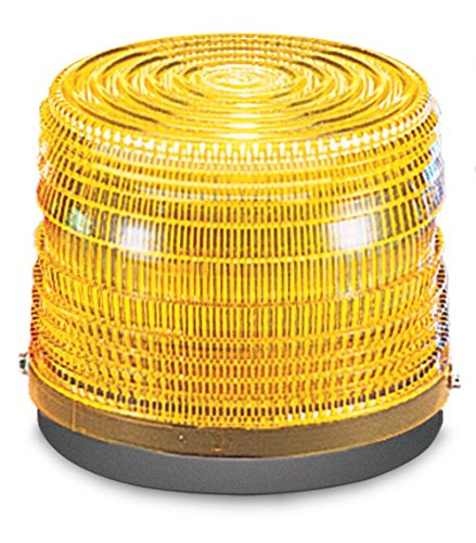 Federal Signal 141ST-120A Electra Flash Strobe Warning Light, Single Flash, Surface or Pipe Mount, 120 VAC, Amber (Signal Federal Light)