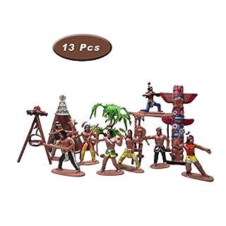 X Hot Popcorn 13 Pcs Indians Figurine Plastic Figures Toys for Decoration
