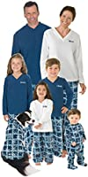 Blue Snowflake Fleece Matching Pajamas for the Whole Family