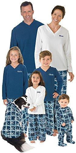 PajamaGram Snowflake Fleece Matching Family