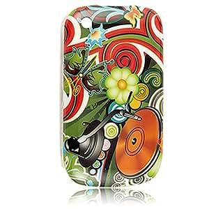 Multicolor IMD cubierta de plástico duro para Blackberry 8520 Nuevo