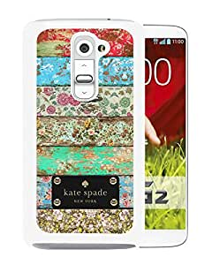 Fashionable And Unique Kate Spade Cover Case For LG G2 White Phone Case 90