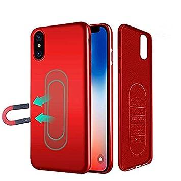 2797da992e6 iPhone X/XS caso,Ultra Delgado Magnética Carcasas para coche teléfono  soporte con placa