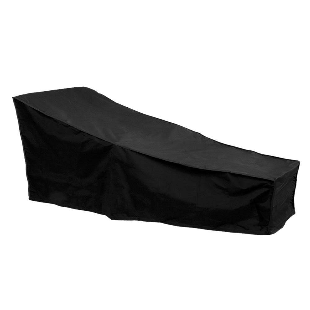 Sunlounger Cover Waterproof Outdoor Garden Patio Furniture Sunbed Cover (Black) F Fellie Cover