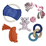Dog Toy Set of 6 Tricyclic Knot Squirrel Bear Frisbee White Ball Pets Puppy Dog Pet Rope Toys Review