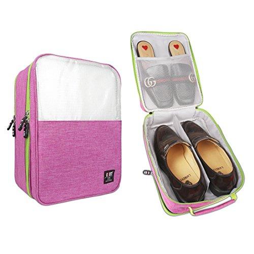 BUBM Shoe Bag Travel Organizer, Shoe storage/ Shoe Cube-Portable Waterproof Shoe Bags Organizer (Pink)