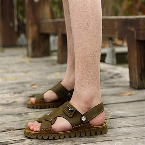 Sandals Verde 2 De Color del Libre Playa Ligeras Aire De Al Antideslizantes Los Sandalias De Hombres tamaño Verde Deportes 3 Los 38 Verano De EU 1aW4U