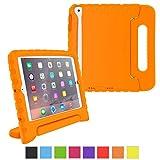 iPad Mini 3 Case - roocase KidArmor Kid Proof EVA Series iPad Mini Shock Proof Convertible Handle with Kickstand Kids Friendly Protective Cover Case for Apple iPad Mini 3 (2014) - Compatible with Mini 1 / 2, Orange