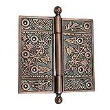 "Adonai Hardware 6"" x 6"" Brass Decorative Hinge(Supplied as one piece)"