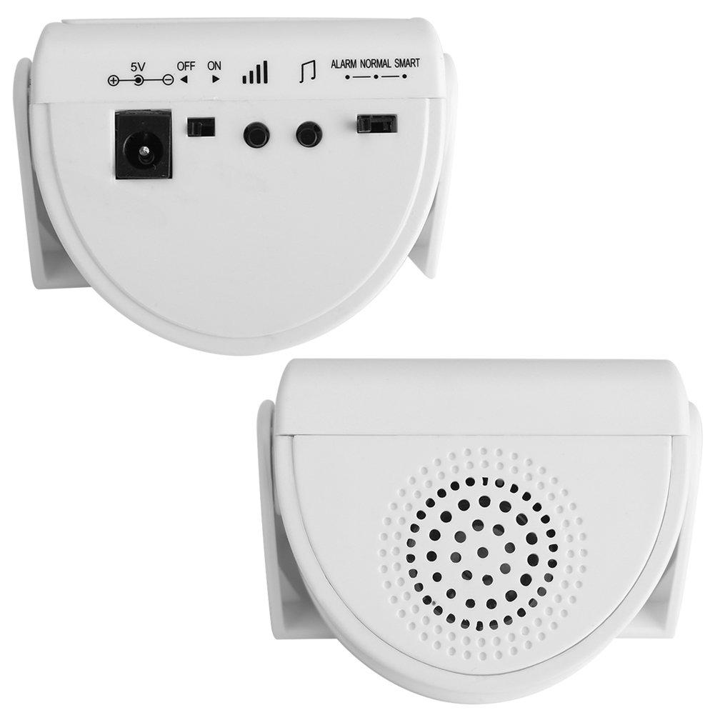 Detector de Movimiento Timbre de la Puerta Inal/ámbrico Elegante Puerta de Entrada M/úsica Alarma Sensor de Movimiento infrarrojo para la Oficina en casa Escuela