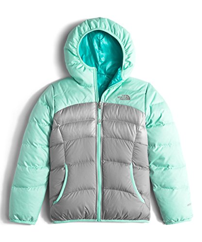 The North Face Reversible Moondoggy Jacket Girls' Ice Green Heather X-Large by The North Face