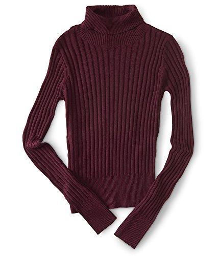 Aeropostale Womens Ribbed Turtleneck Sweater