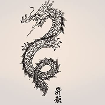 Stickerbrand Asian Décor Vinyl Wall Art Chinese Asian Dragon Wall Decal  Sticker   Multiple Colors Available