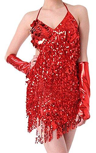 Latin Ballroom Dance Costumes (Samba Costume Sexy Red)