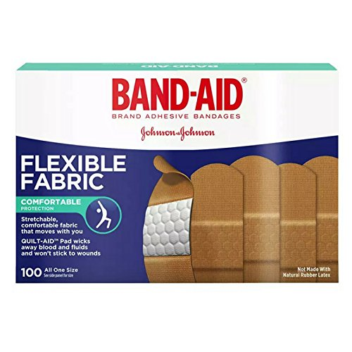 BAND-AID Flexible Fabric Adhesive Bandages 3/4 Inch X 3 Inches 100 ea (Pack of 6) by Band-Aid