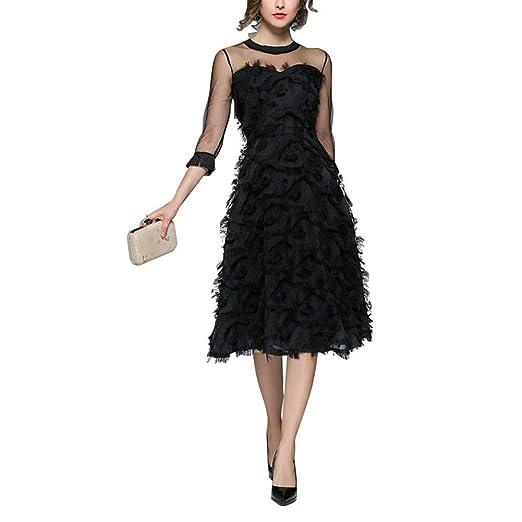 Ocamo - Elegante Falda con Flecos para Mujer, Medium: Amazon.es: Hogar