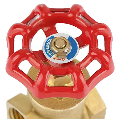 DN25 Sturdy Brass Gate Valve BSPP G1 Rotary Sluice Valve 232PSI for Water Oil Gas by Walfront (Image #2)