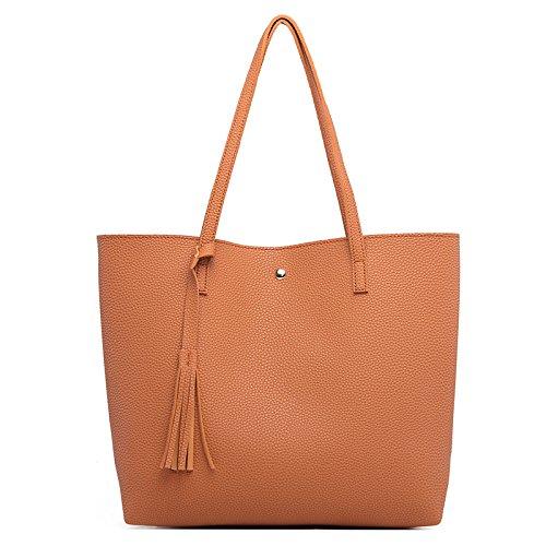 2018 Nueva Moda Europa Y Estados Unidos Bolso De Hombro Litchi Patrón Flow Sutop Bag PU Bolso De Gran Capacidad Para Mujeres 9