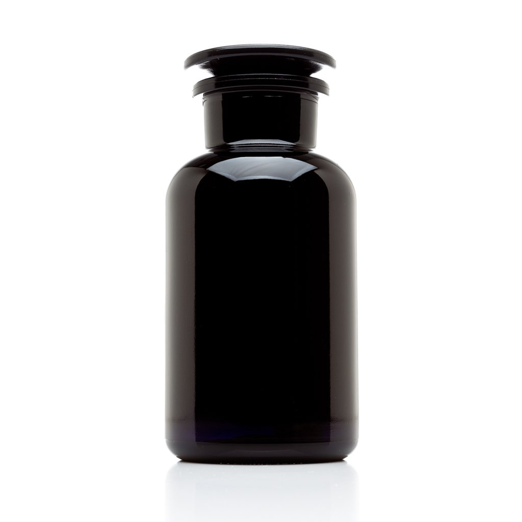 Infinity Jars 500 ml (17 oz) Black Ultraviolet All Glass Refillable Empty Apothecary Jar