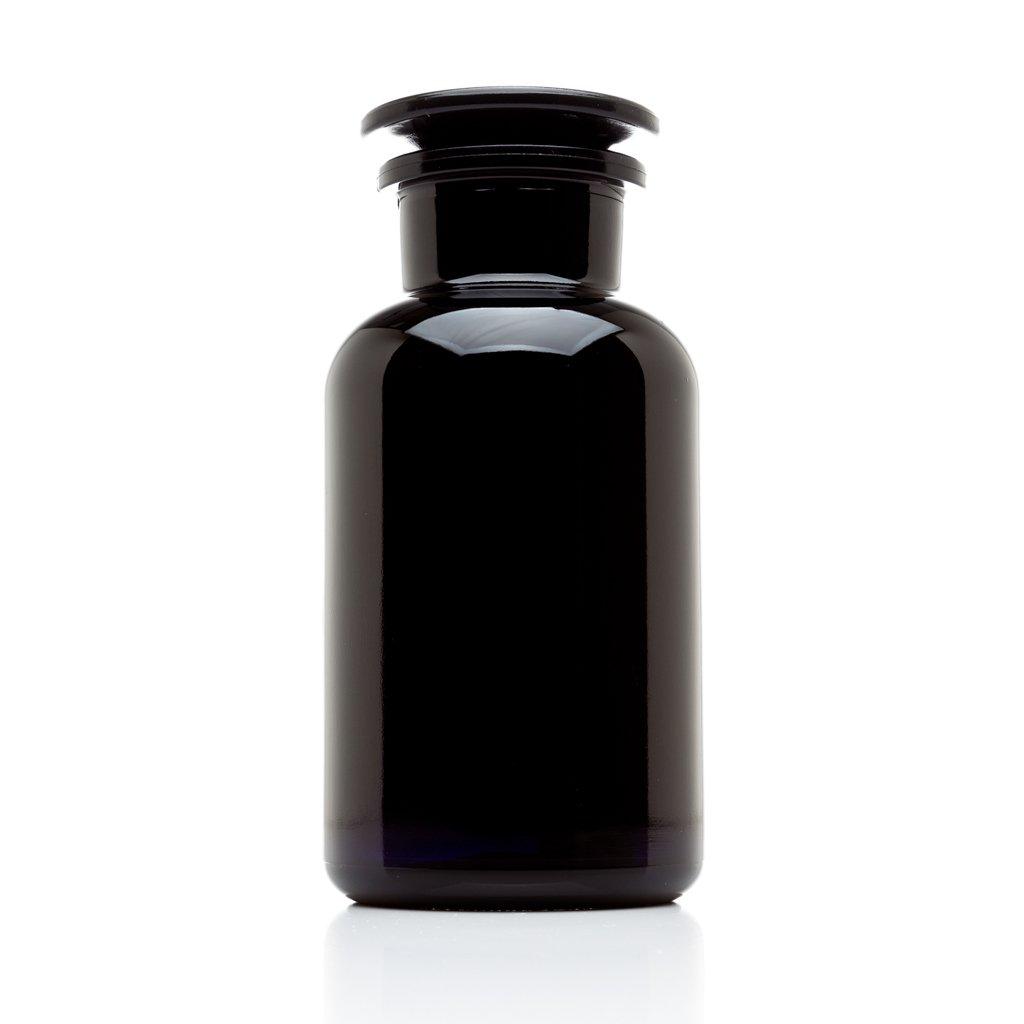 Infinity Jars 500 ml (17 fl oz) Black Ultraviolet All Glass Refillable Empty Apothecary Jar
