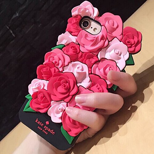CASESOPHY 3D Pink Rose Case for iPhone 6 iPhone 6s Regular Size 4.7