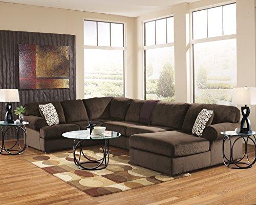 Jessa Place Contemporary Chocolate Color Microfiber Sectional Sofa