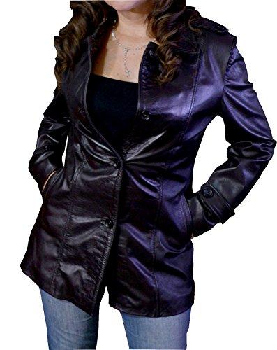 Distressed Italian Leather Jacket - 5