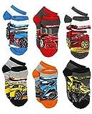 Hot Wheels Boys 6 pack Socks (6-8 (Shoe: 10.5-4), Hot Wheels Multi)