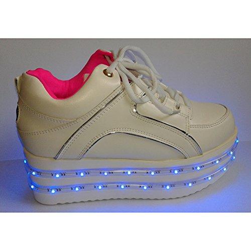 Deportivas Party Mujer Led Luces San Valentín Rave Sports Regalo Flash Zapatillas Con Acever Zapatos Del De Prom Día para Igfnz