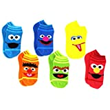 Sesame Street Elmo Boys Girls Multi Pack Crew Socks with Grippers (Baby/Toddler)