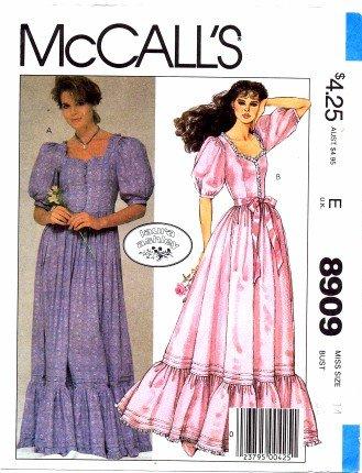 Amazon.com: McCall\'s 8909 Sewing Pattern Laura Ashley Boho ...