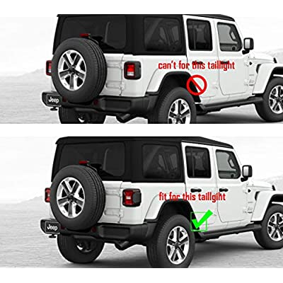 JSTOTRIM Black Plastic Front Bumper Fog Headlight taillight Cover Trims for 2020 2020 Jeep Wrangler Accessories JL (Taillight Protector): Automotive