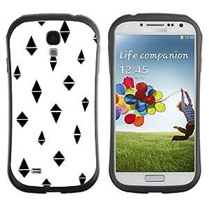 "Hypernova Slim Fit Dual Barniz Protector Caso Case Funda Para SAMSUNG Galaxy S4 IV / i9500 / i9515 / i9505G / SGH-i337 [Polígono Negro Modelo abstracto""]"