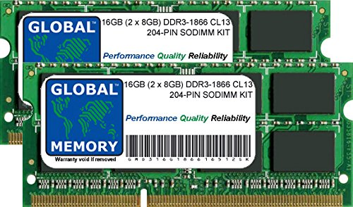 16 GB (2 x 8 GB) DDR3 1866 MHz PC3-14900 204-PIN SODIMM GEHEUGEN RAM VOOR INTEL IMAC 27″ RETINA 5K (LATE 2015)