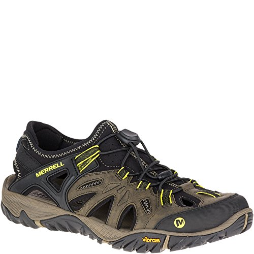 (Merrell Men's All Out Blaze Sieve Water Shoe, Olive Night, 11.5)