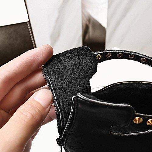 Femmes Fermeture Chaussures Black Eclair Aiguille Razamaza 6dqZvAf6