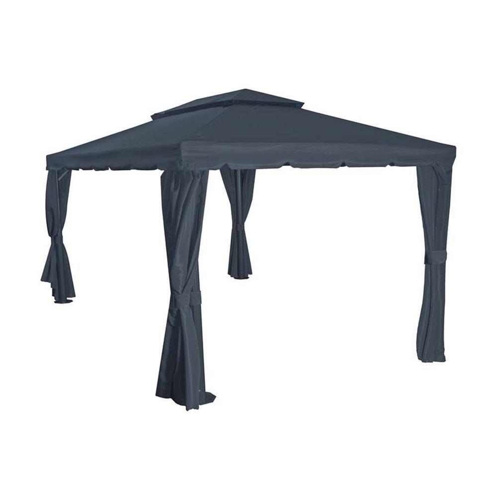 Siena Garden 727476 Dach zu Pavillon Dubai, 3x4m Polyester 250g/m² grau PU-beschichtet