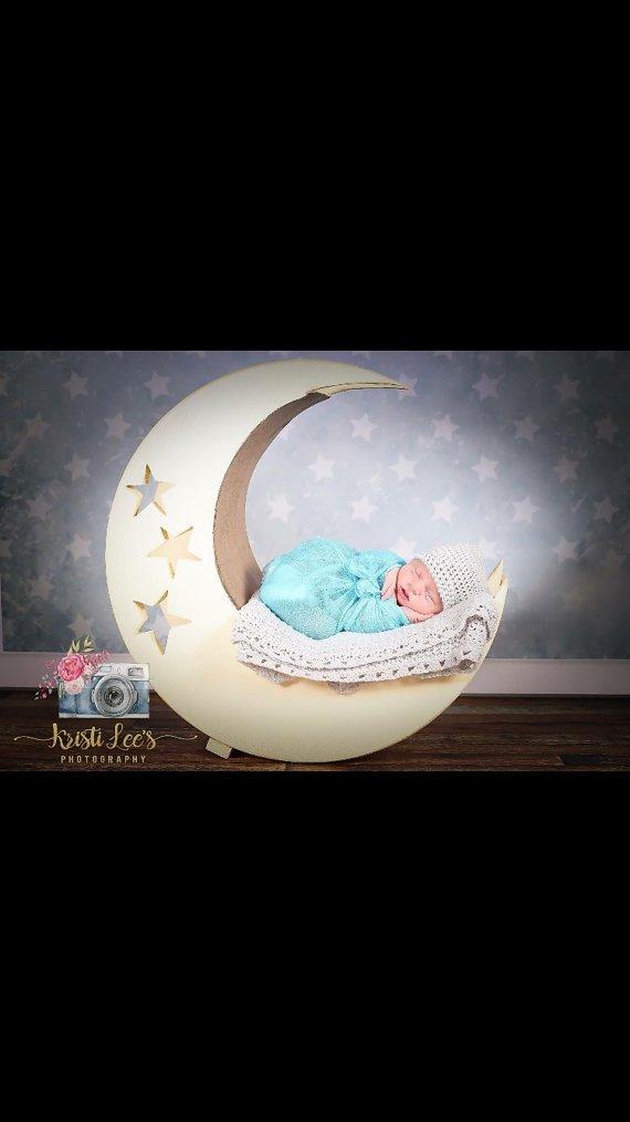 MOON Baby Bed Photo Prop, Photography Prop, Moon Baby Bed, Photo Prop