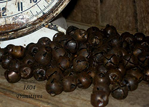Inspiration for A Project Ornament 500 Primitive Rusty Tin Jingle Bells 13mm ~ Approx 1/2'' ~ Bulk Craft Supply DIY Rustic Primitive Decor Ideas by Decorative primitive & rustic crafting supplies (Image #1)