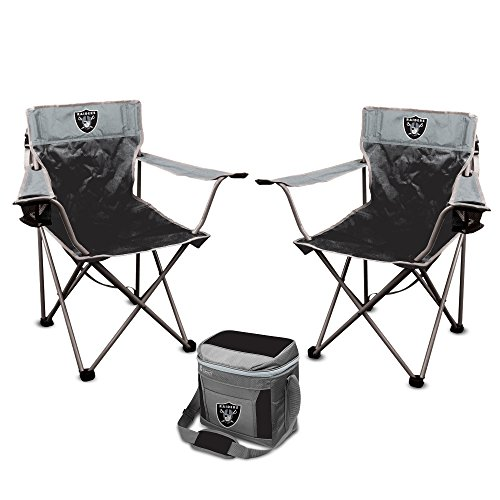 NFL Rookie of the Year Tailgate Bundle - Oakland Raiders (2 Kickoff Chairs, 1 16 Can Cooler)