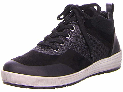 Ara Womens L.Lace-up Boots Black/Fucile Wide G Size 5.5 EU