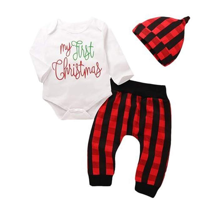 Amazon.com: My First Christmas - Mono de algodón para bebé ...
